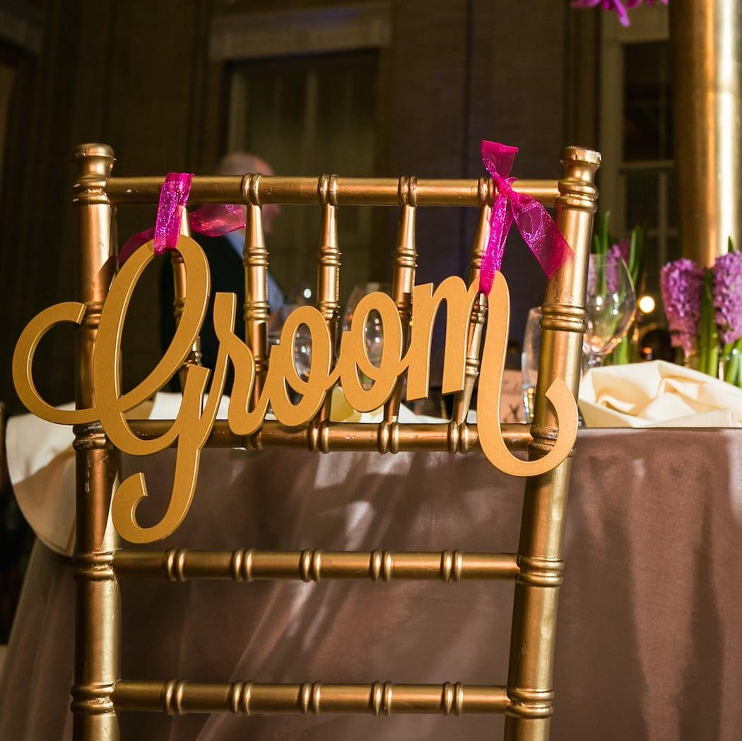 Monica Kitt Wedding, chairs