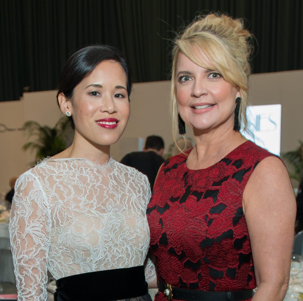 Stephanie Fleck, Melissa Juneau at Oscar de la Renta fashion show at MFAH
