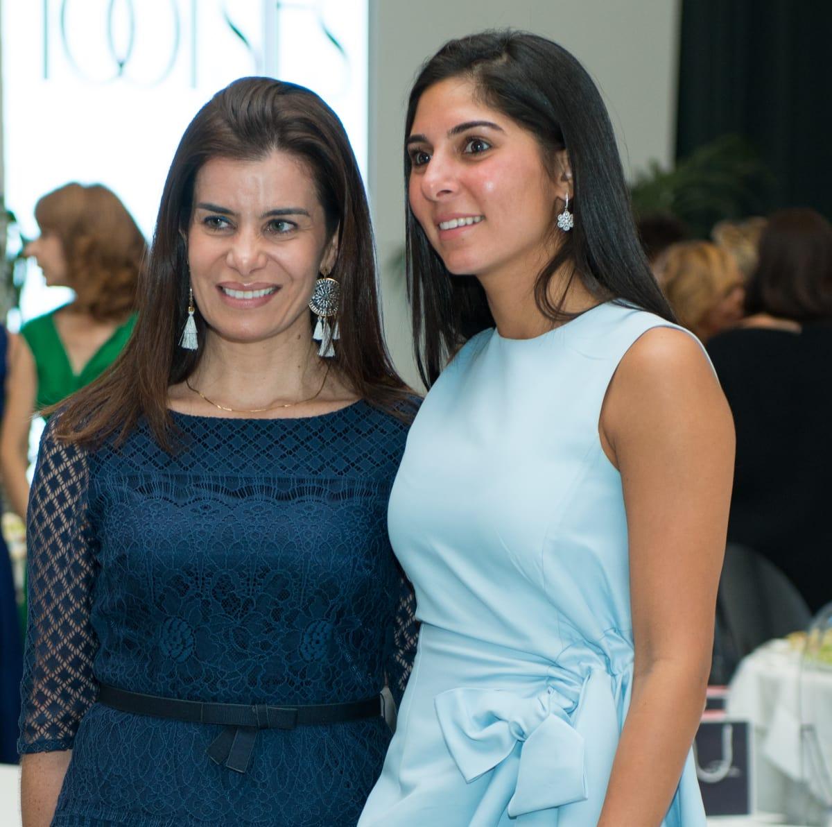 Mona Sarofim, Maria Munoz at Oscar de la Renta fashion show at MFAH