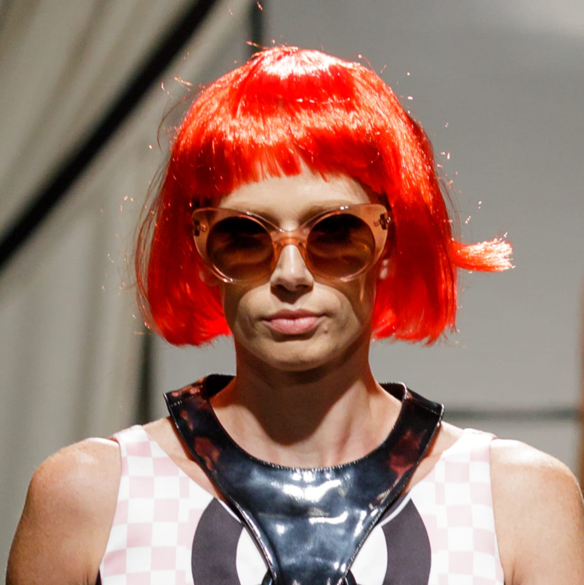 A look from Staci Henderson's closet and red wig at Fashion X Houston