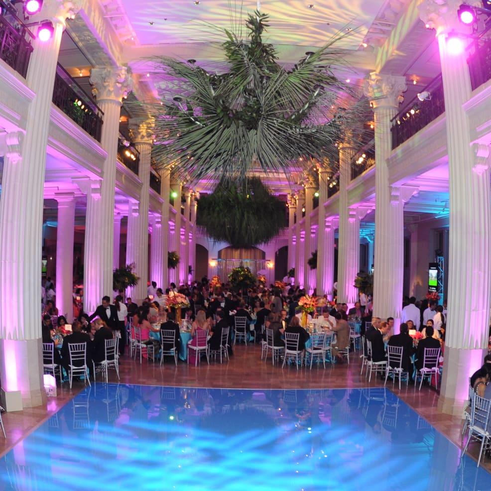 Decor and Dance Floor at Miami Vice Children's Museum Gala