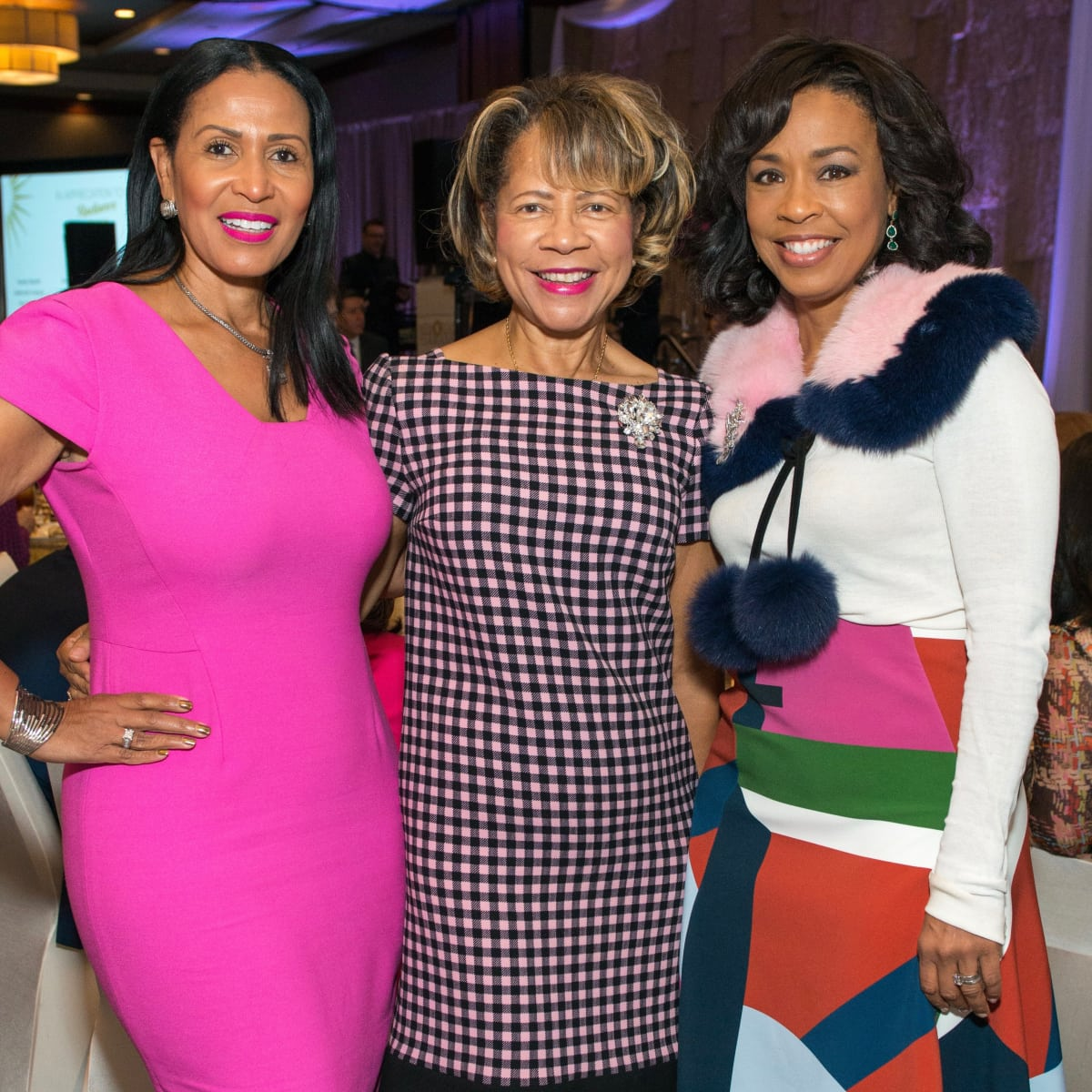 Memorial Hermann Razzle Dazzle luncheon, Jacqueline Kinloch, Merele Yarborough, Gina Gaston