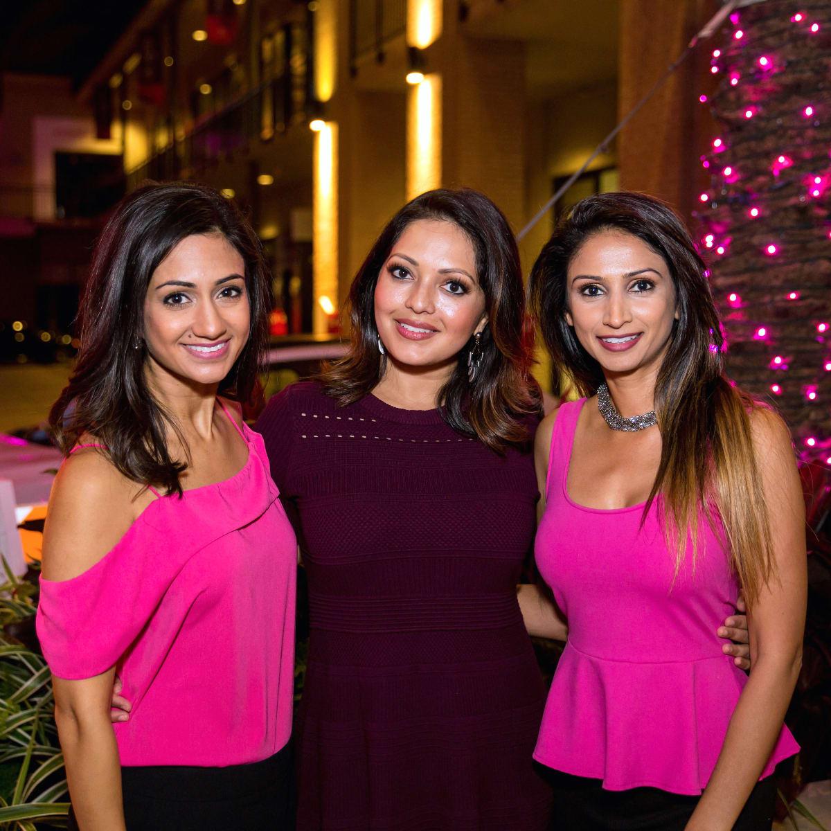 Houston, Marcy, West Ave Pink Party, October 2017, Rashi Vats, Rekha Muddaraj, Sapna Patel