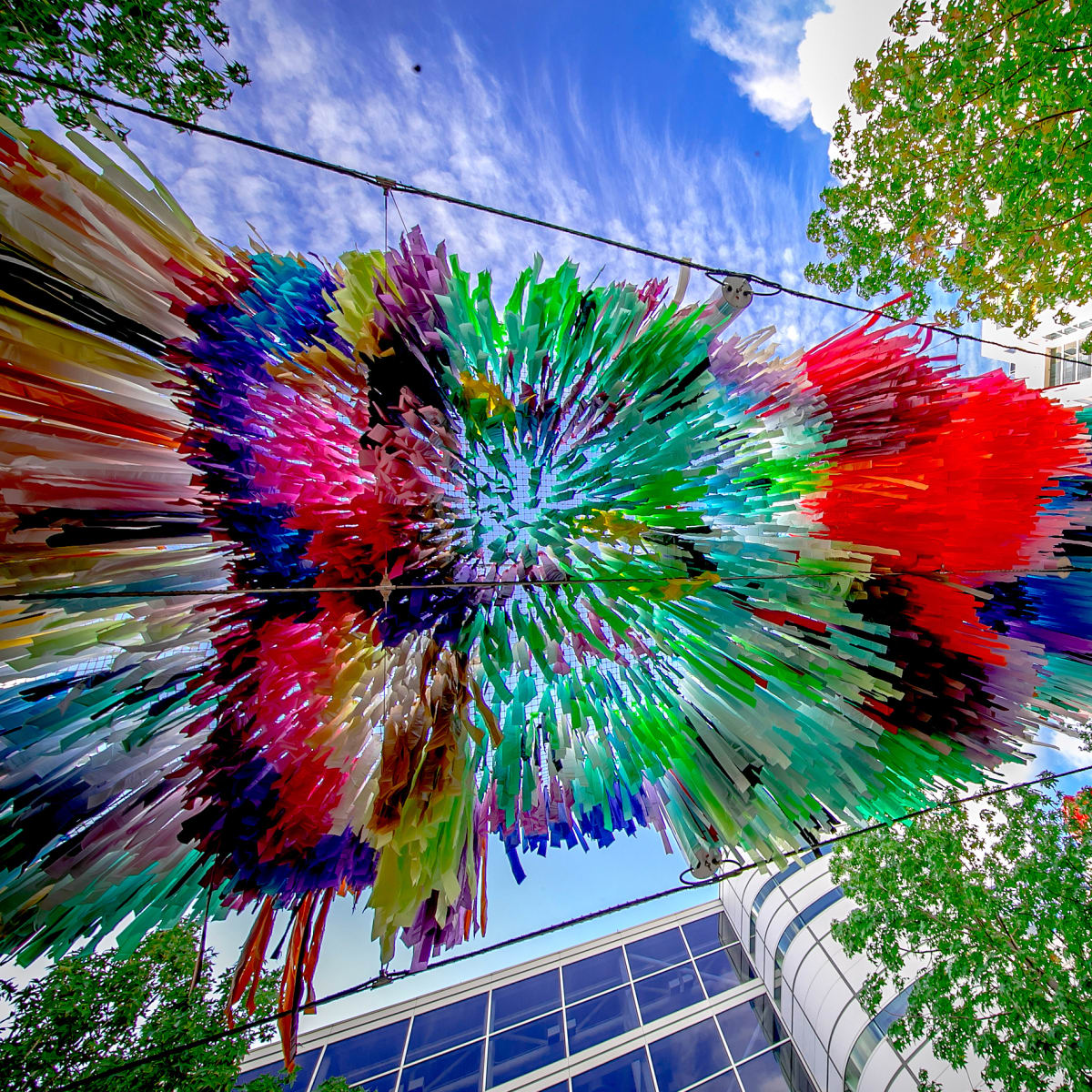 Houston, Discovery Green, Arcade art installation, August 2017