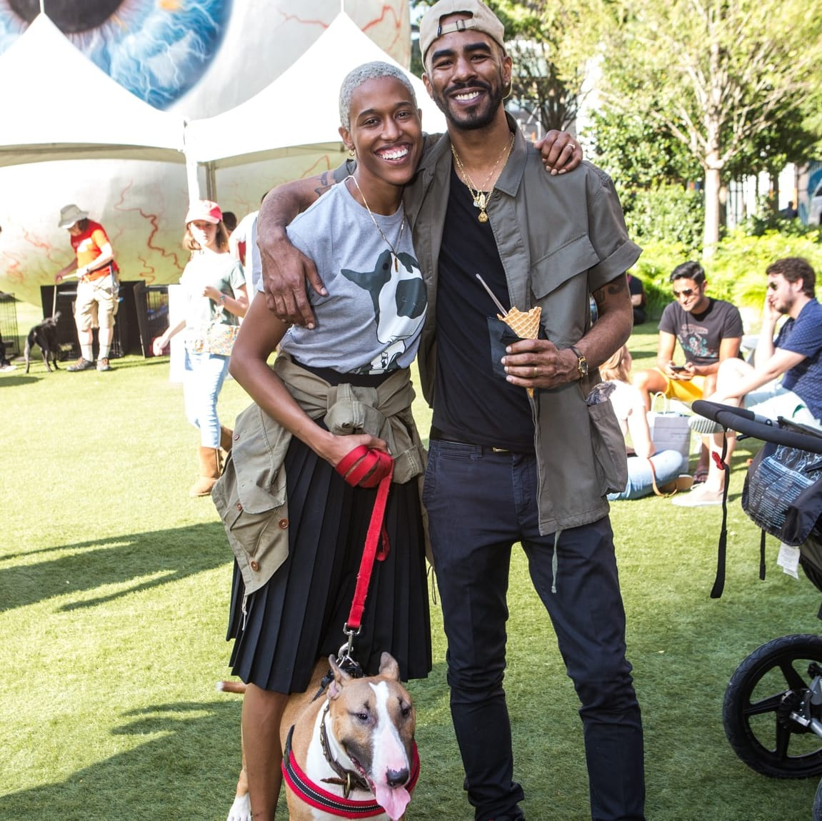 Marlena and Brent English, Puppies in the Park 2017