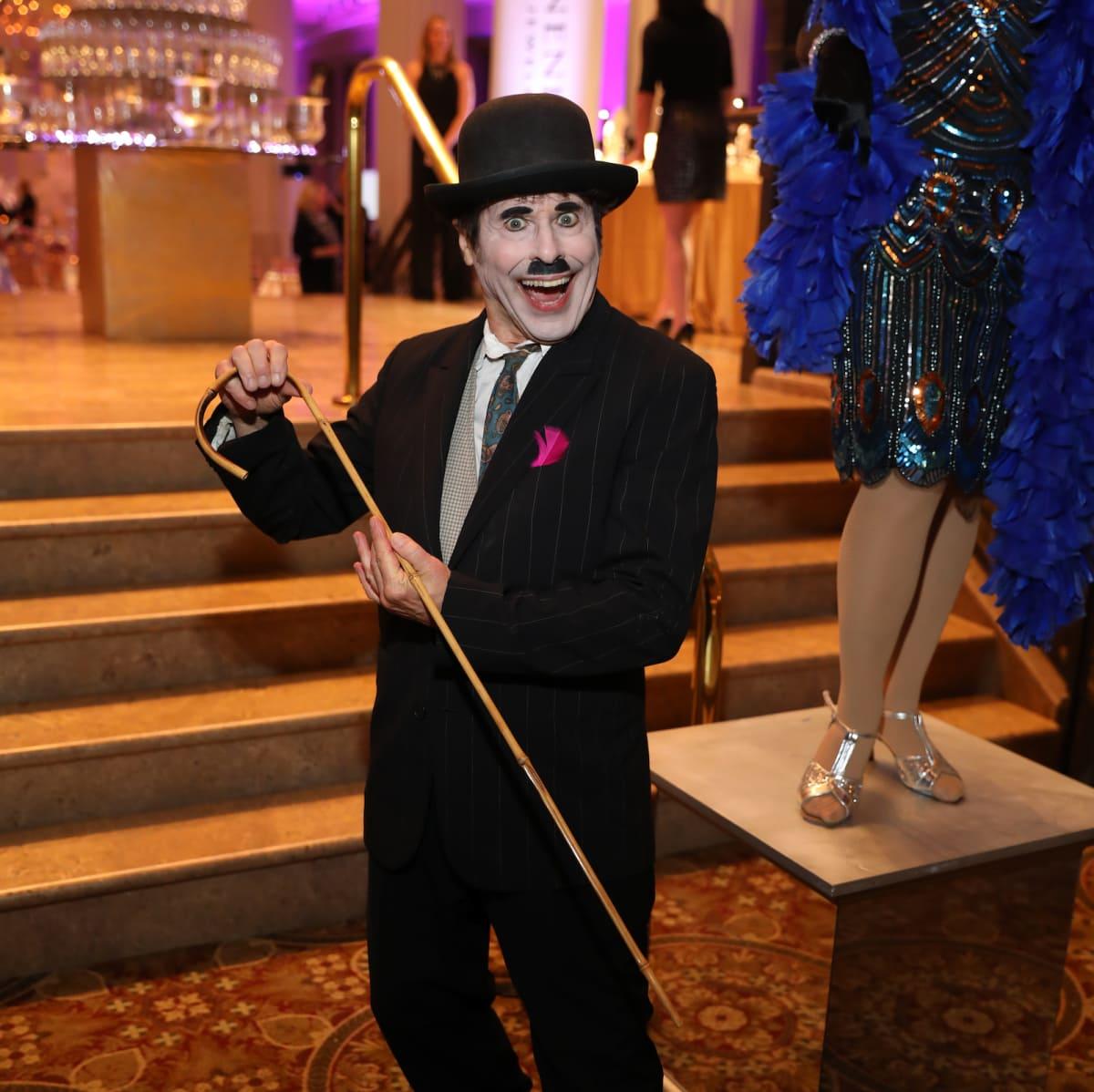 Houston, March of Dimes Signature Chefs, November 2017, Charlie Chaplin impersonator