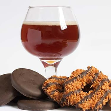 Girl Scout Cookies with beer