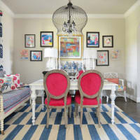 Houzz Forth Worth house home Color-happy Country Living dining room