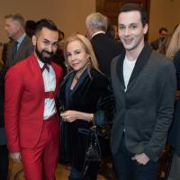 World AIDS Day lunch, Fady Armanious, Carolyn Farb, Jonathan Blake