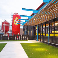 Austin Beerworks taproom patio