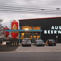Austin Beerworks brewery front sign