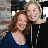 Sheila Aron, Lynne Kamin at Blue Plate Special kickoff