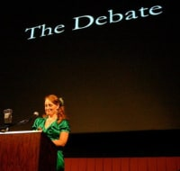 Austin Photo Set: News_Dawn Youngs_does god play dice_jan 2012_dawn debate
