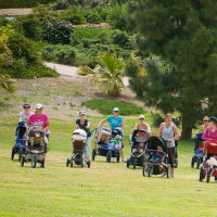 Stroller Strides class for mom and baby