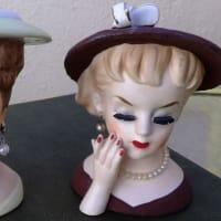 Lady head vases