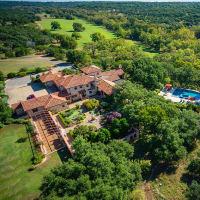 Mandola's estate in Austin aerial view