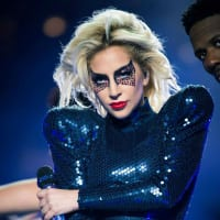 Houston, Lady Gaga's Super Sunday, Super Bowl LI, Feb 2017, Lady Gaga onstage at Super Bowl LI