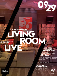 Living Room live poster for The Wind and the Wave