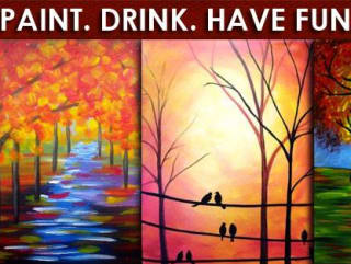 Pinot's Palette collection of October paintings