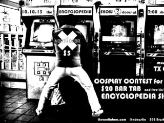 The Encyclopedia Show flyer for video games with arcade