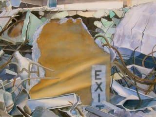 IEI gallery painting Exit #2 by Ken Mazzu