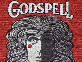 logo for Broadway musical Godspell