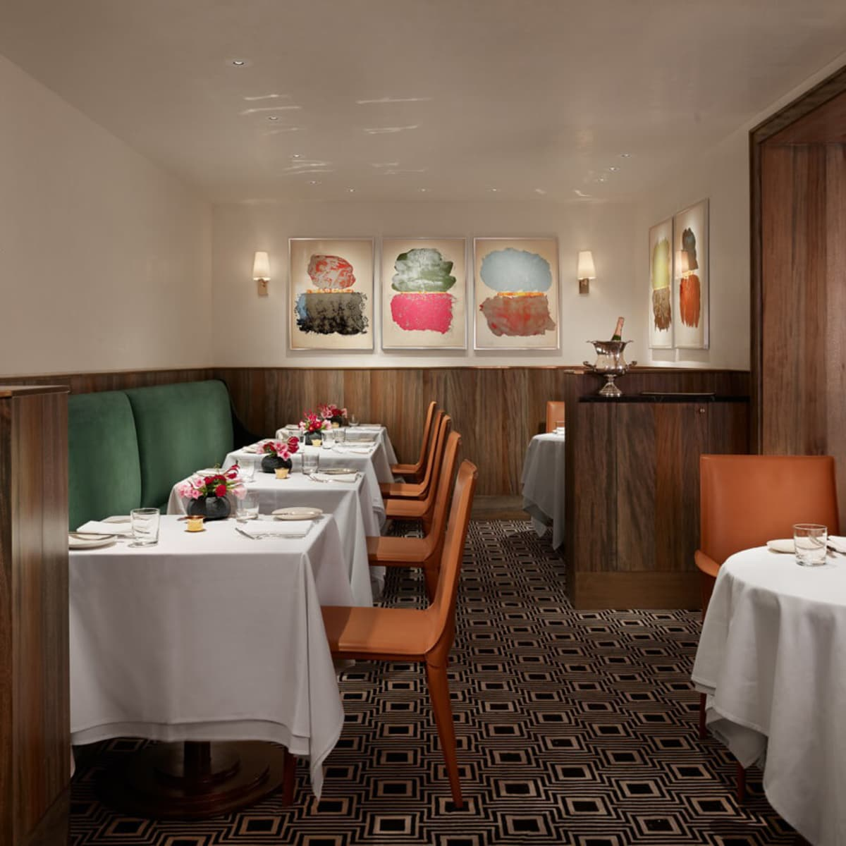 Dining room of Jeffrey's restaurant in Austin