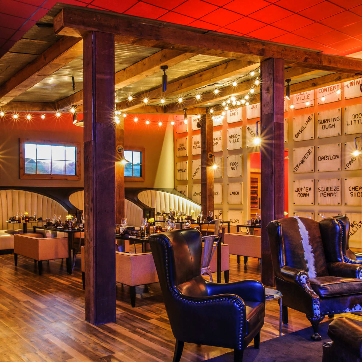 Interior of Stampede 66 restaurant in Dallas