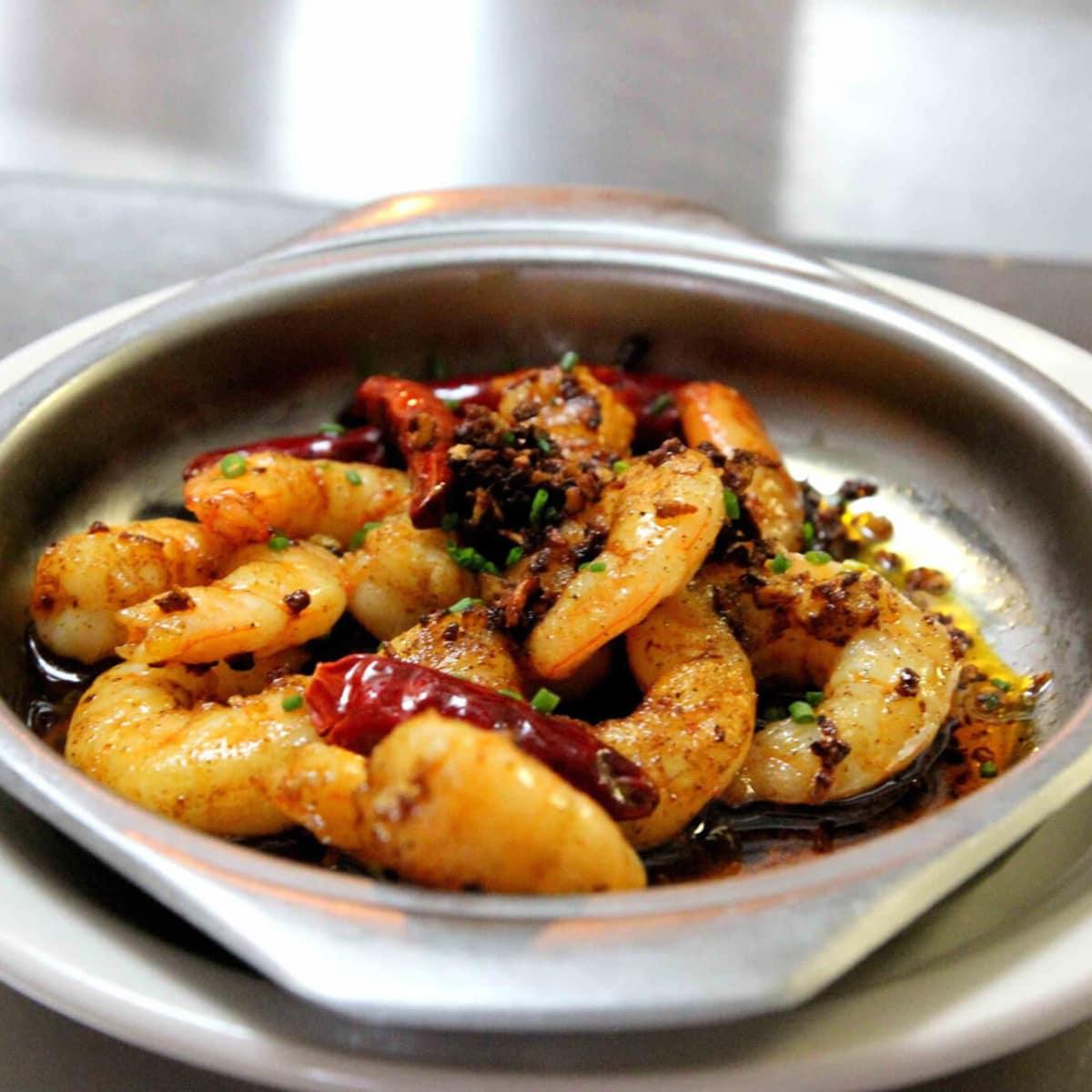 Cafe madrid shrimp dish