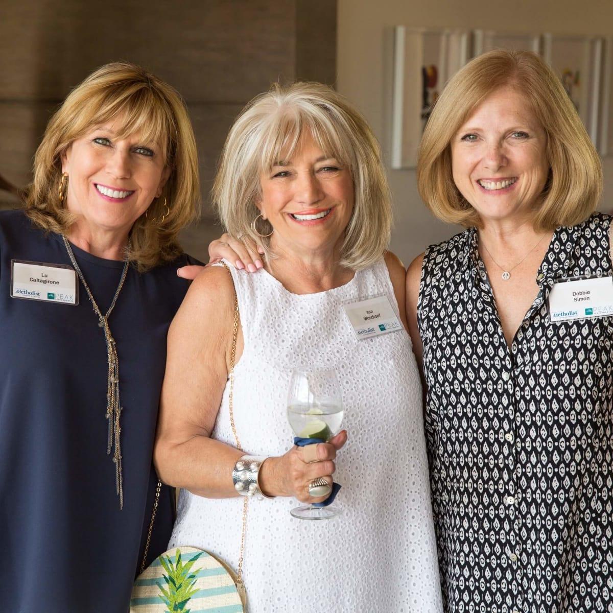 Houston Methodist in Aspen, July 2016, Lu Caltagirone, Ann Woodroof, Debbie Simon