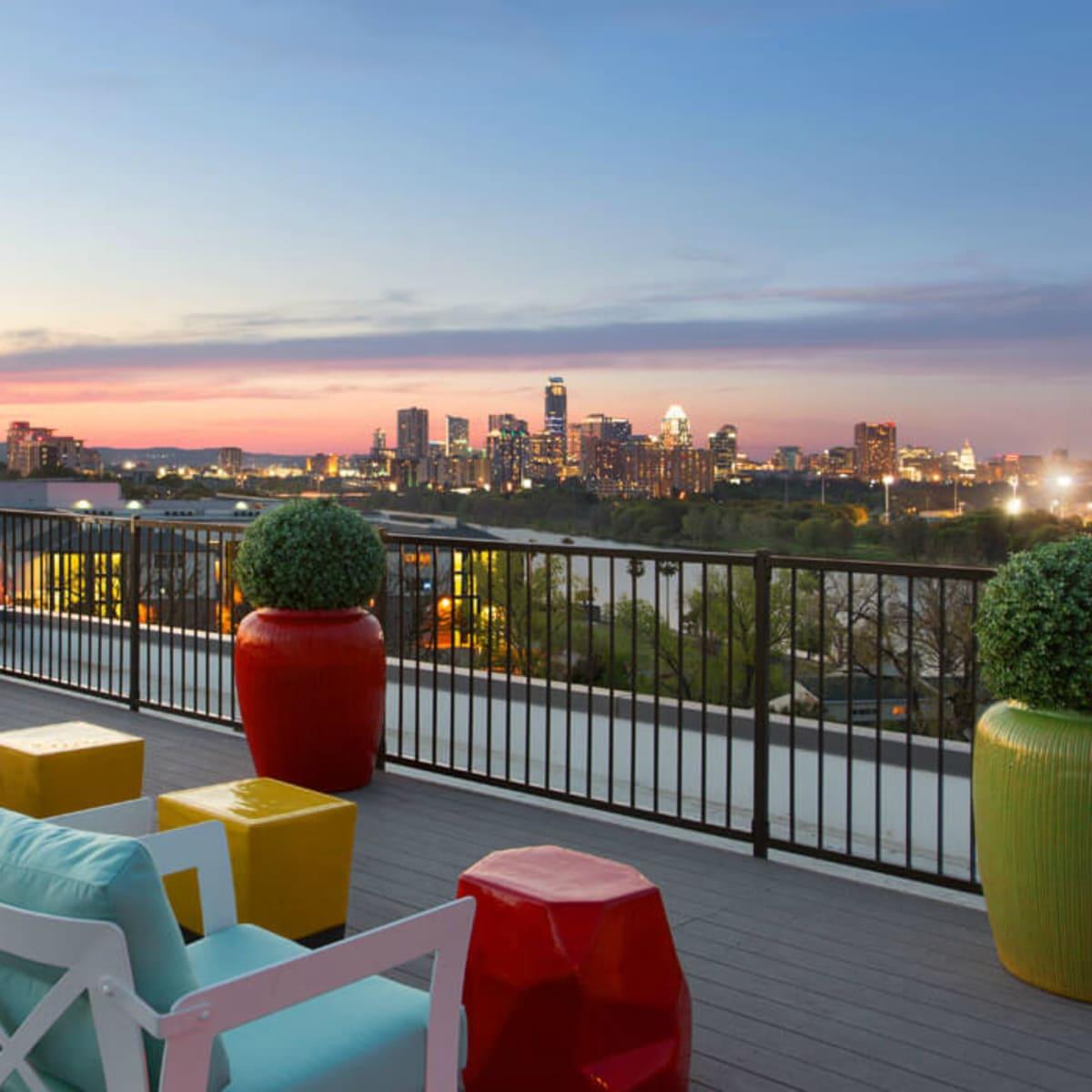 South Shore District Austin apartment rent patio downtown skyline Riverside