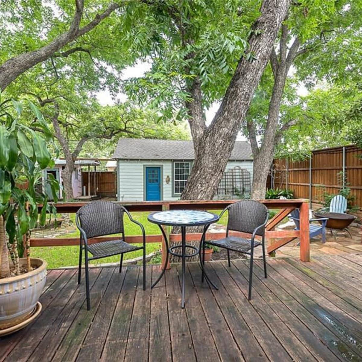 Backyard at 701 S. Clinton Ave. in Oak Cliff