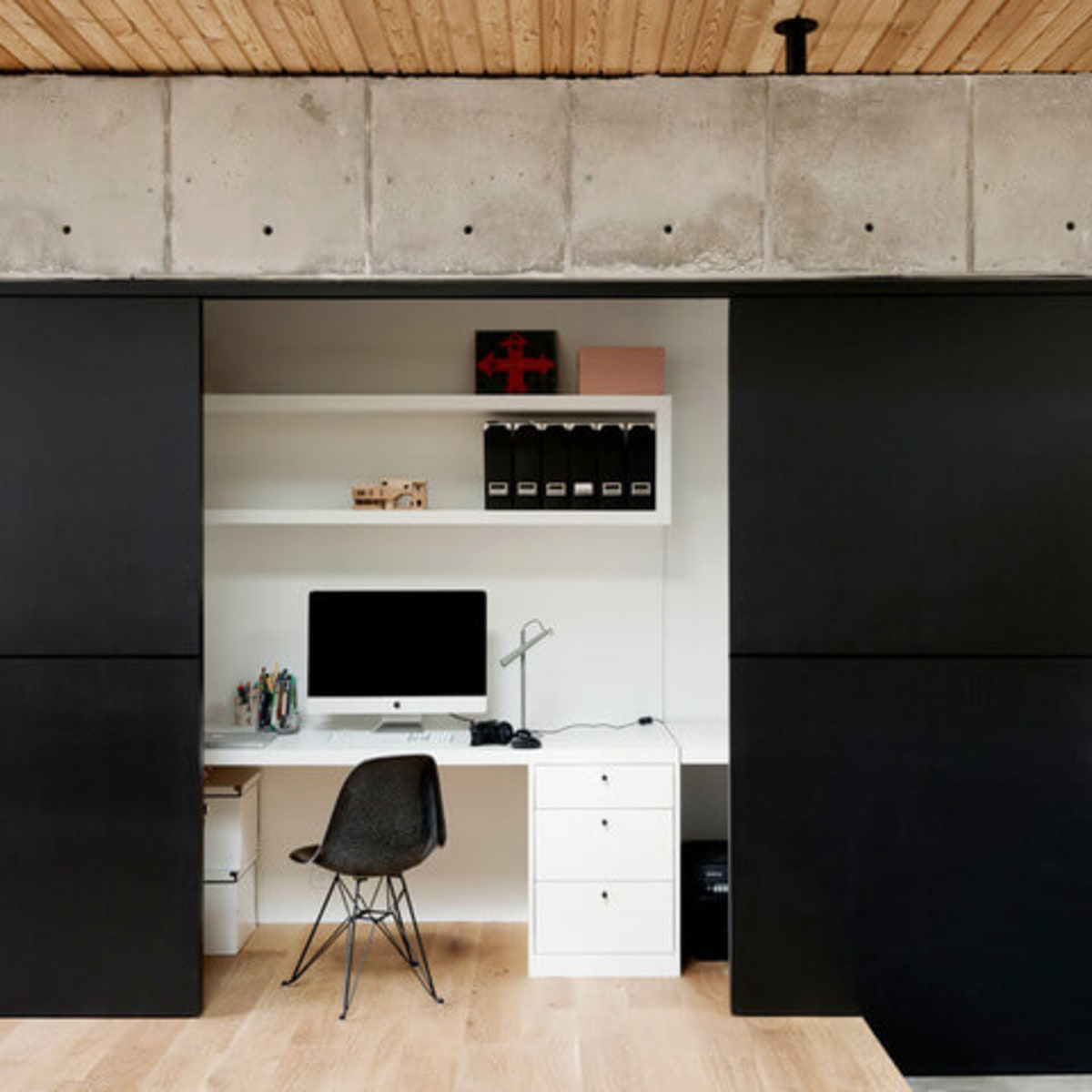 Houzz Houston house home Japanese-style concrete box office