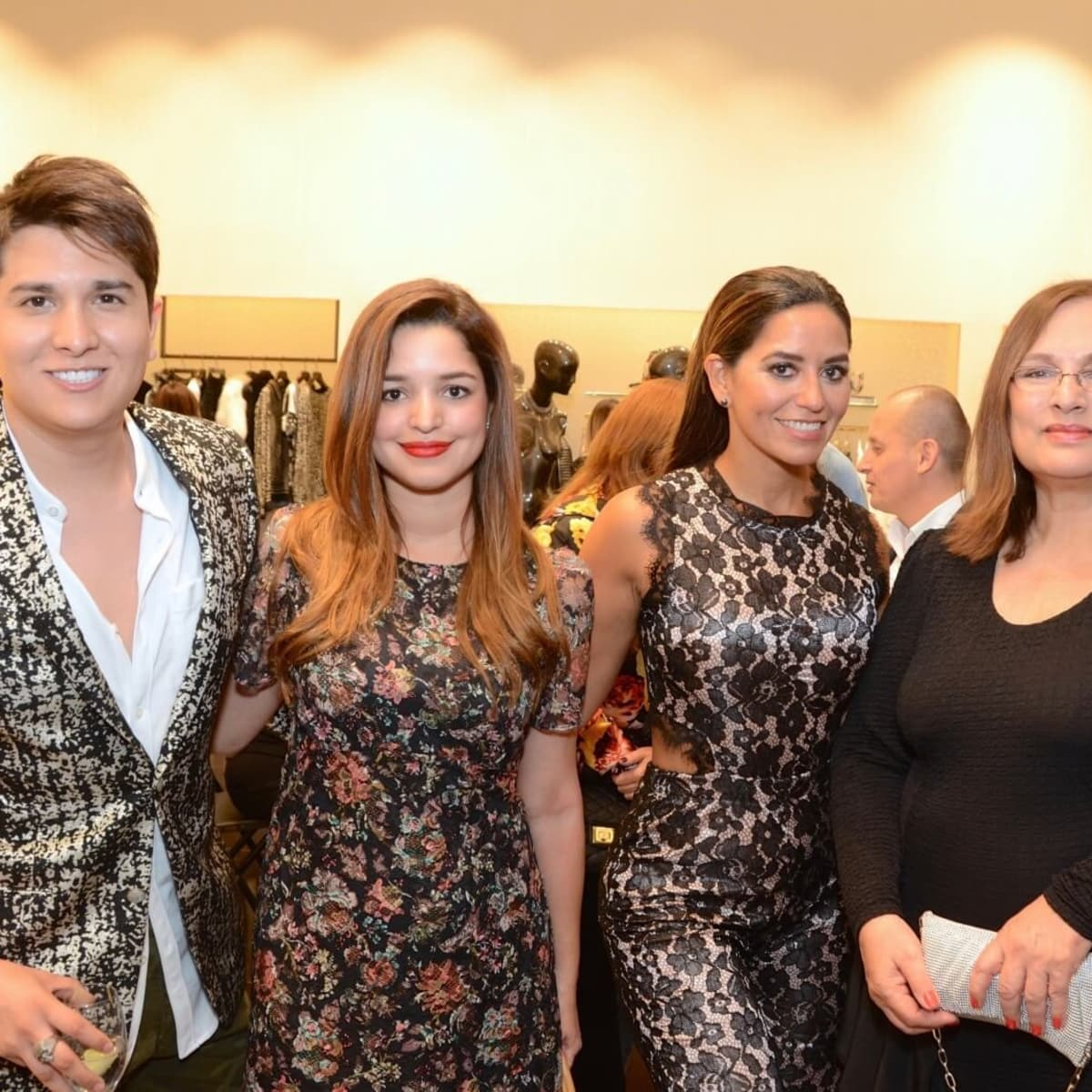 Noche de las Americas kick-off, Aug. 2016, Angel Woolsey, Vanessa Guzman, Adriana Calhoon,  Lea Brown