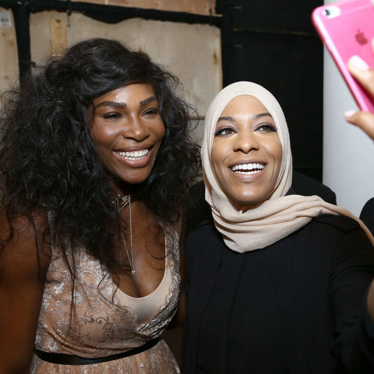 Serena Williams and Olympic athlete Ibtihaj Muhammad attend HSN Presents Serena Williams Signature Statement Collection Fashion Show at Kia STYLE360