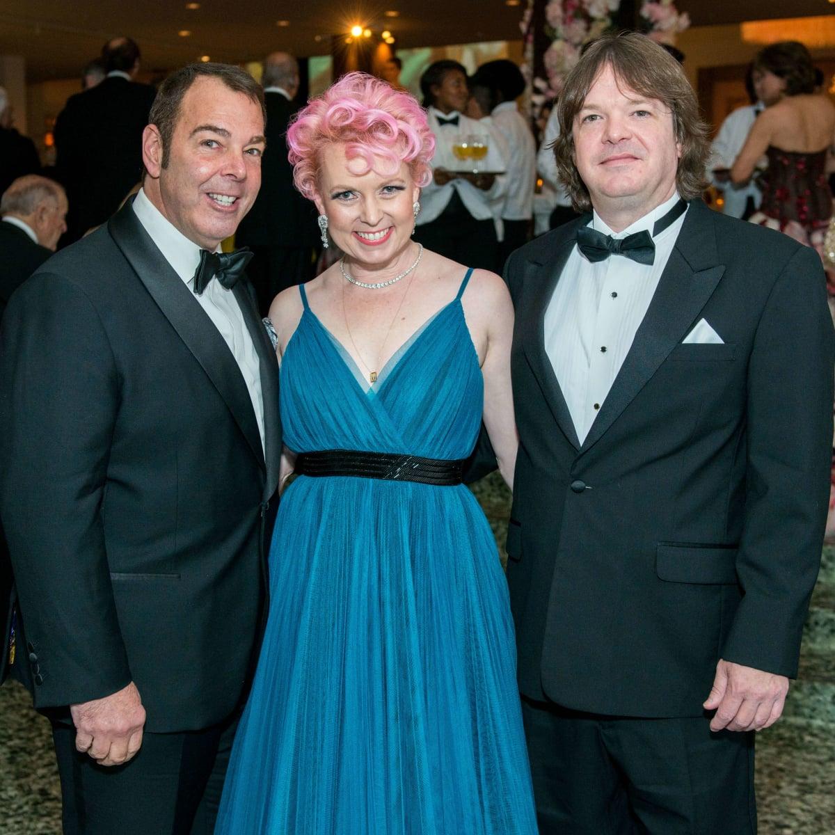 Mike Stinson, Vivian Wise, Peter Martino at Museum of Fine Arts Houston Grand Gala