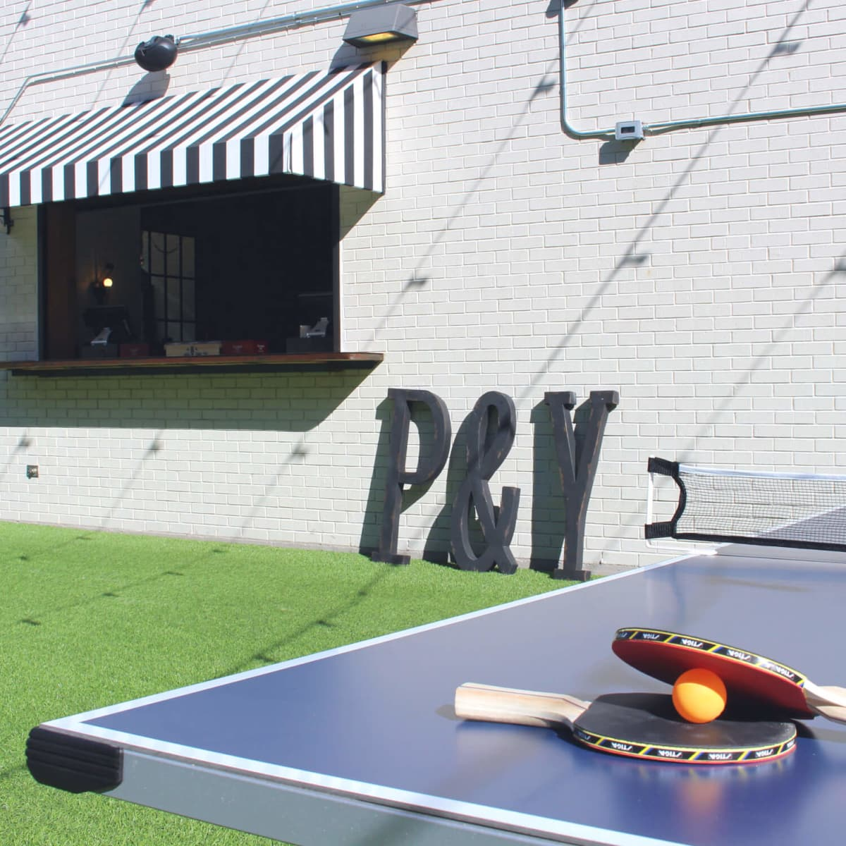 Parlor & Yard bar Dunlap ATX west sixth February 2016 outdoor patio bar ping pong table