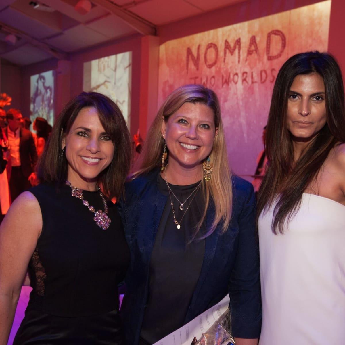 Marian Bush, Kackie Macha, Sabiha Remutalla at Nomad fundraiser