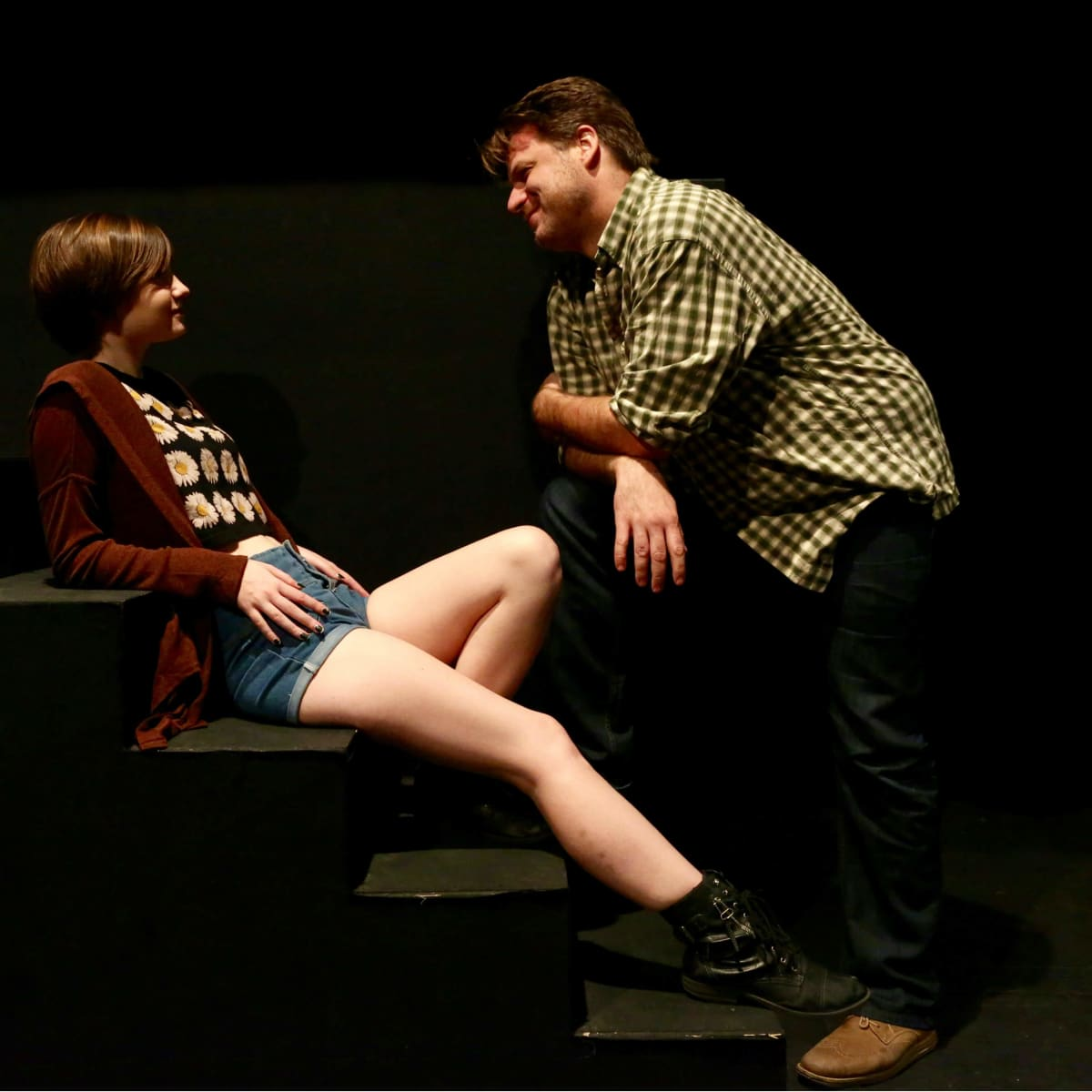 Madeleine Morris and Jeff Burleson in In a Dark Dark House