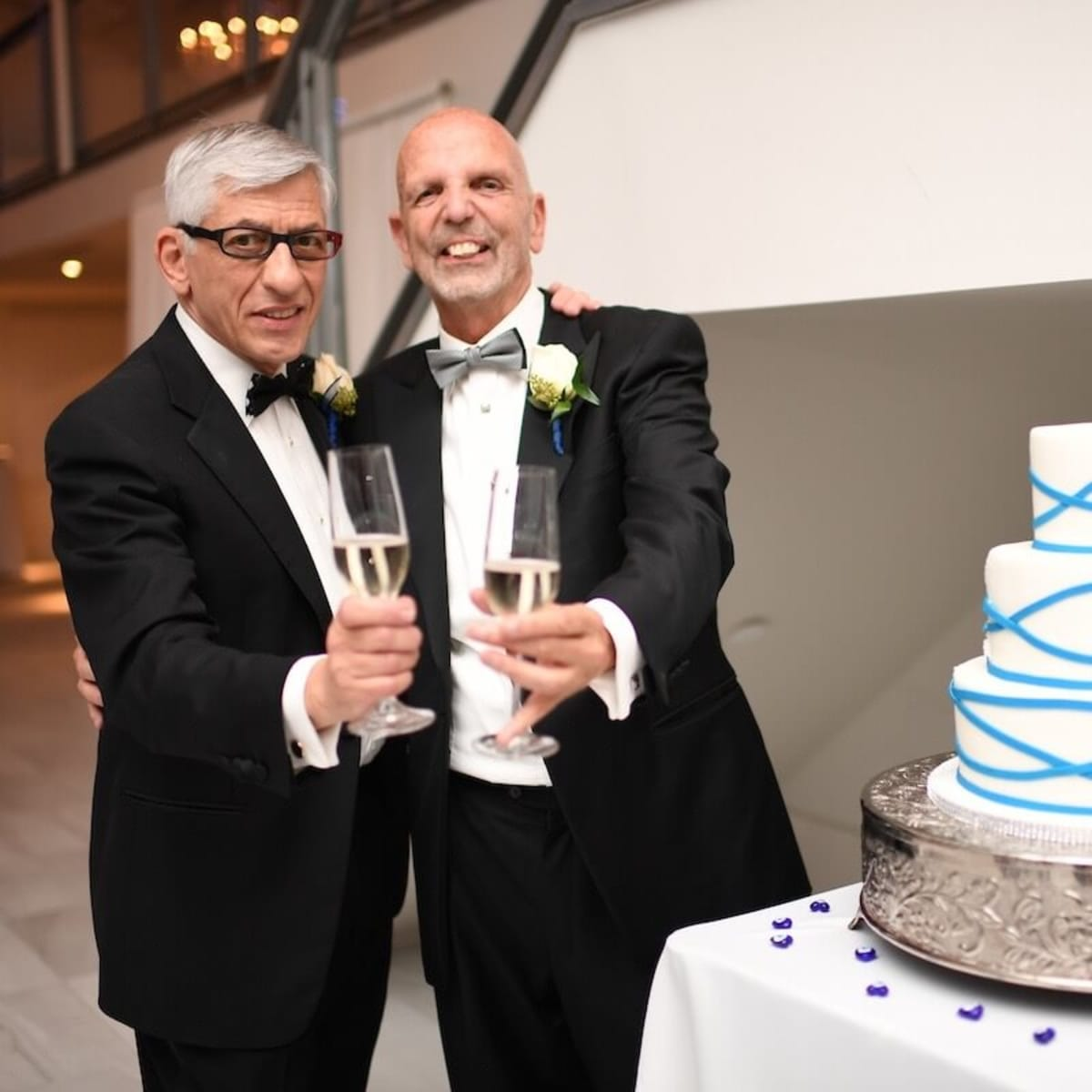 Wedding Pugh Dascoulias champagne toast