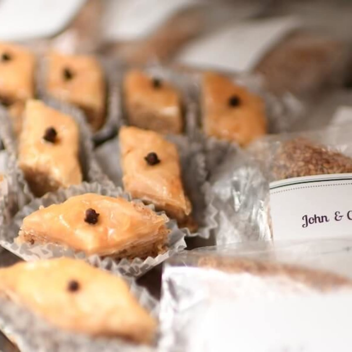 Wedding Pugh Dascoulias homemade baklava