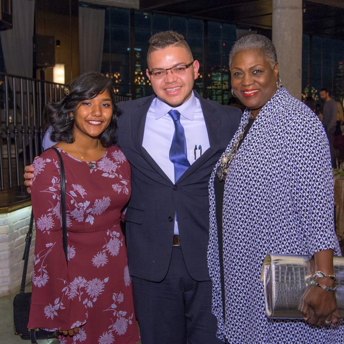 Houston, Writers in the Schools gala, Dec 2016, Fareena Arefeen, Andrew White, Dr. Rhea Brown Lawson