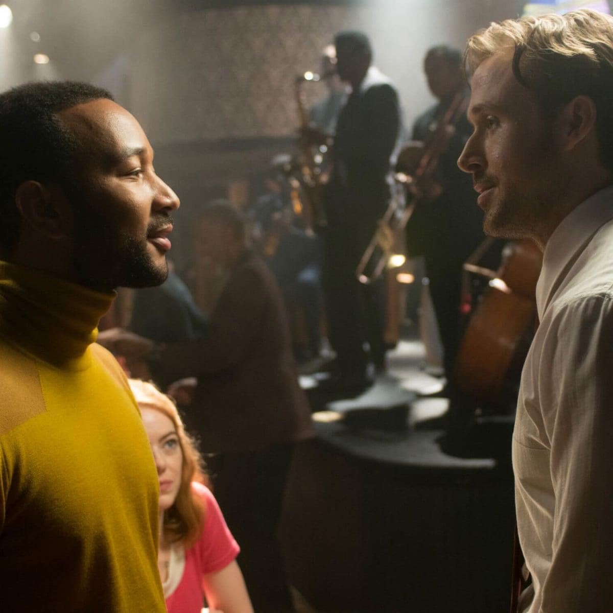 John Legend, Emma Stone, and Ryan Gosling in La La Land