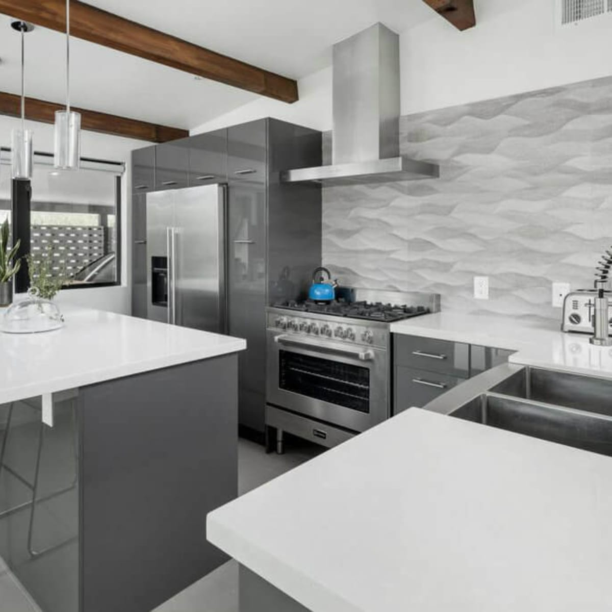 Contemporary gray kitchen