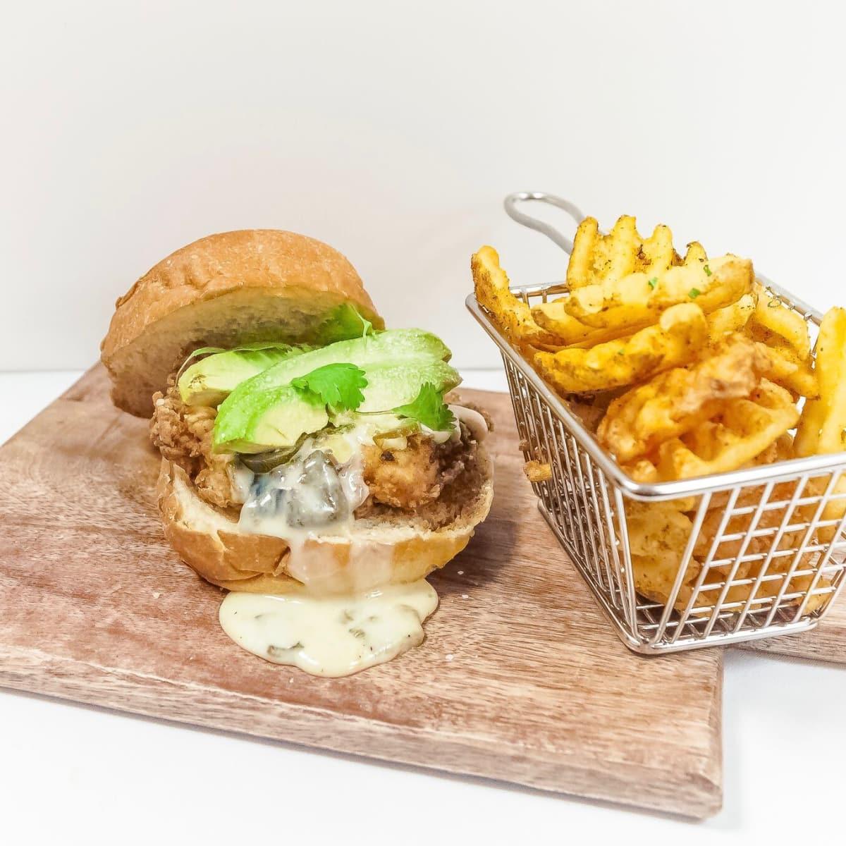 Krisp Bird & Batter Southwest sandwich