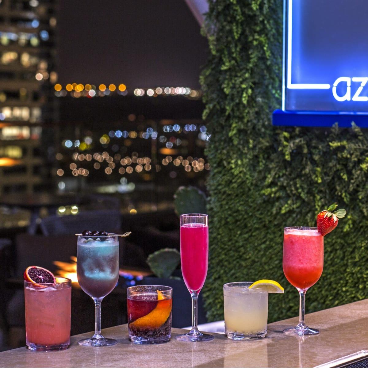 Westin Austin Downtown pool lounge cocktails