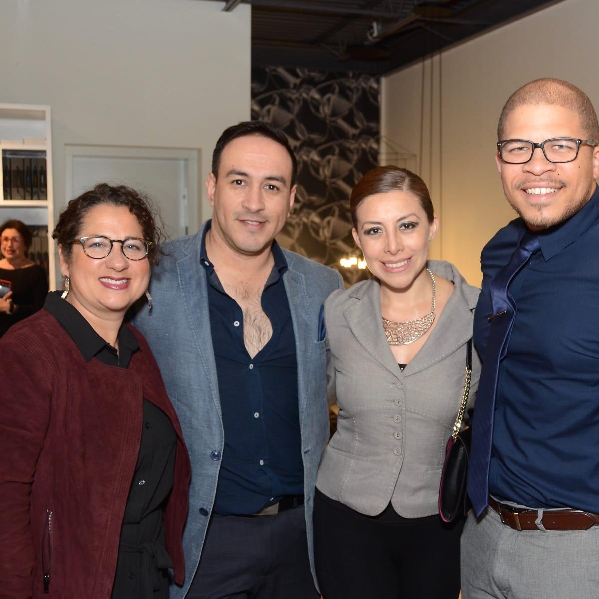 BeDesign cocktail party, Gisella de Ponton, Andres Vanegas, Sophia Hernandez, Christopher Davis
