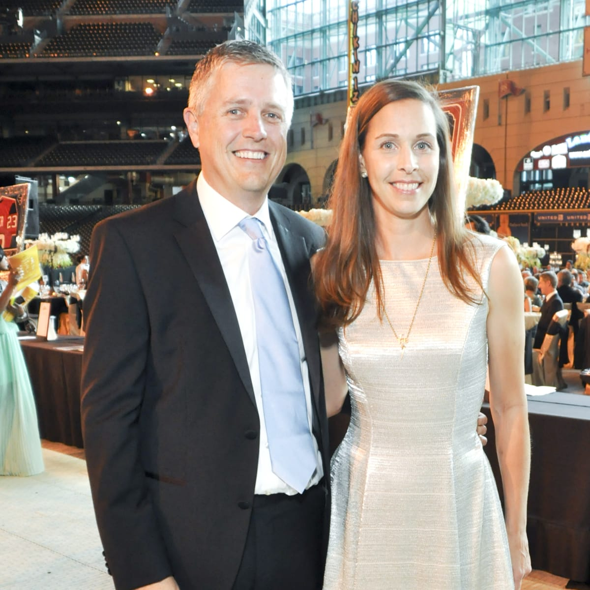 Astro Wives Gala,  Jeff Luhnow, Gina Luhnow, Aug. 2012