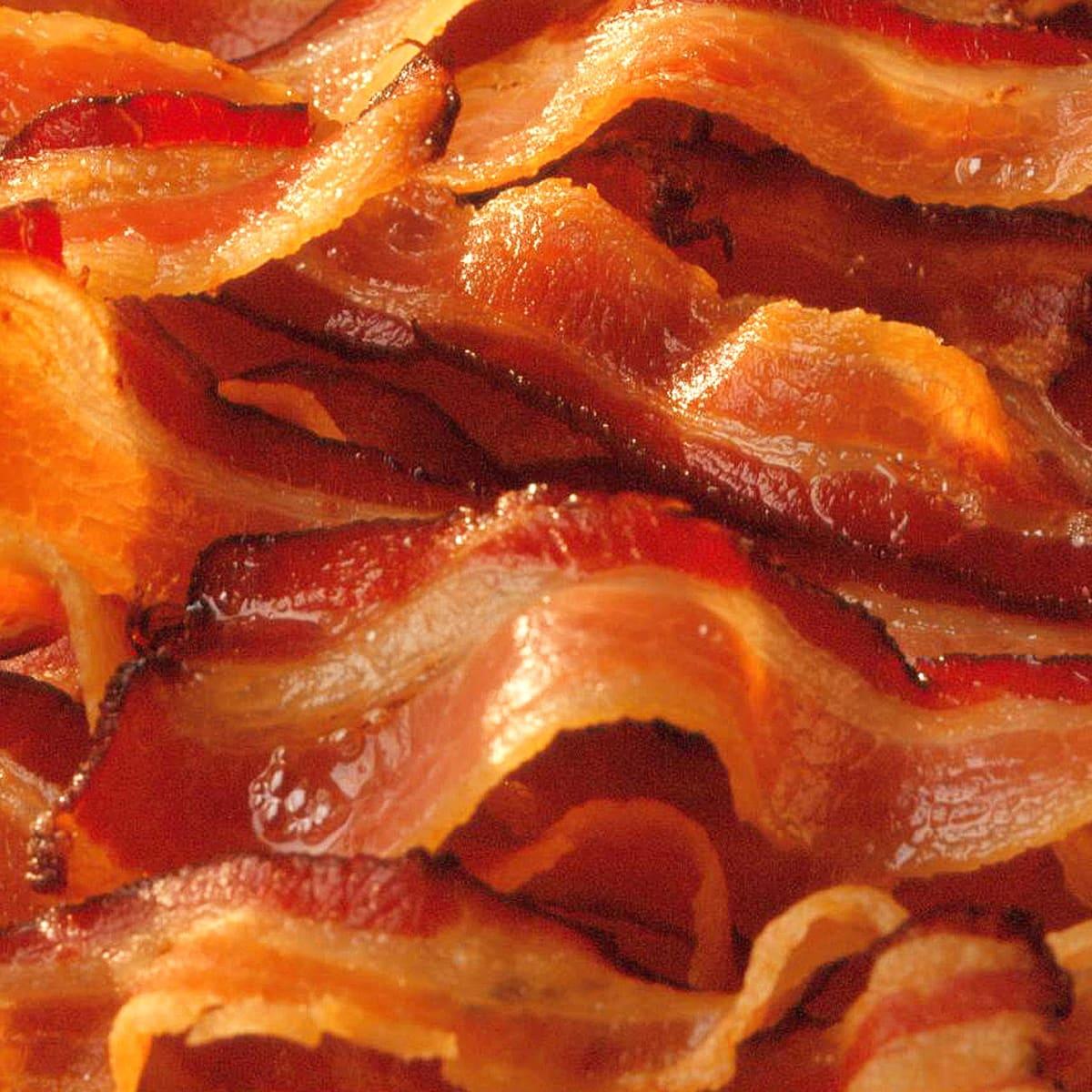 bacon, cooked bacon