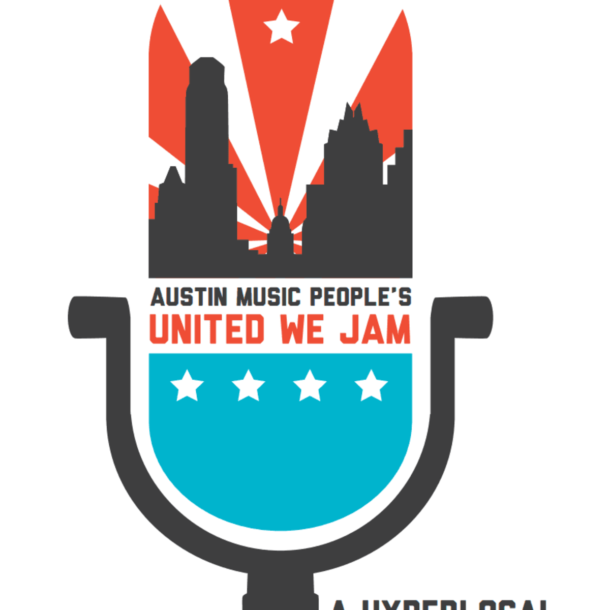 Austin Music People AMP United We Jam poster 2013